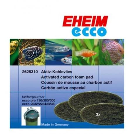 MOUSSE CHARBON POUR FILTRE EHEIM ECCO PRO 130/200/300 ref 2628310