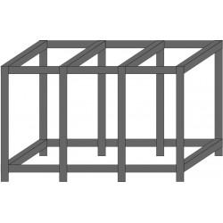 TABLE METALLIQUE SOUDEE 250x60x70cm